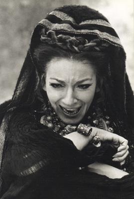 Maria Callas (Medea) nel film diretto da Pasolini