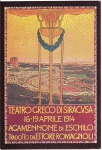 1914 - Leopoldo Metlicovitz - Manifesto realizzato per Agamennone di Eschilo - Teatro Greco di Siracusa 1914 - AFI/SR