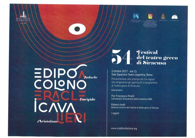 Festival al Teatro Greco di Siracusa, l'Inda annuncia a Roma i nomi dei tre registi