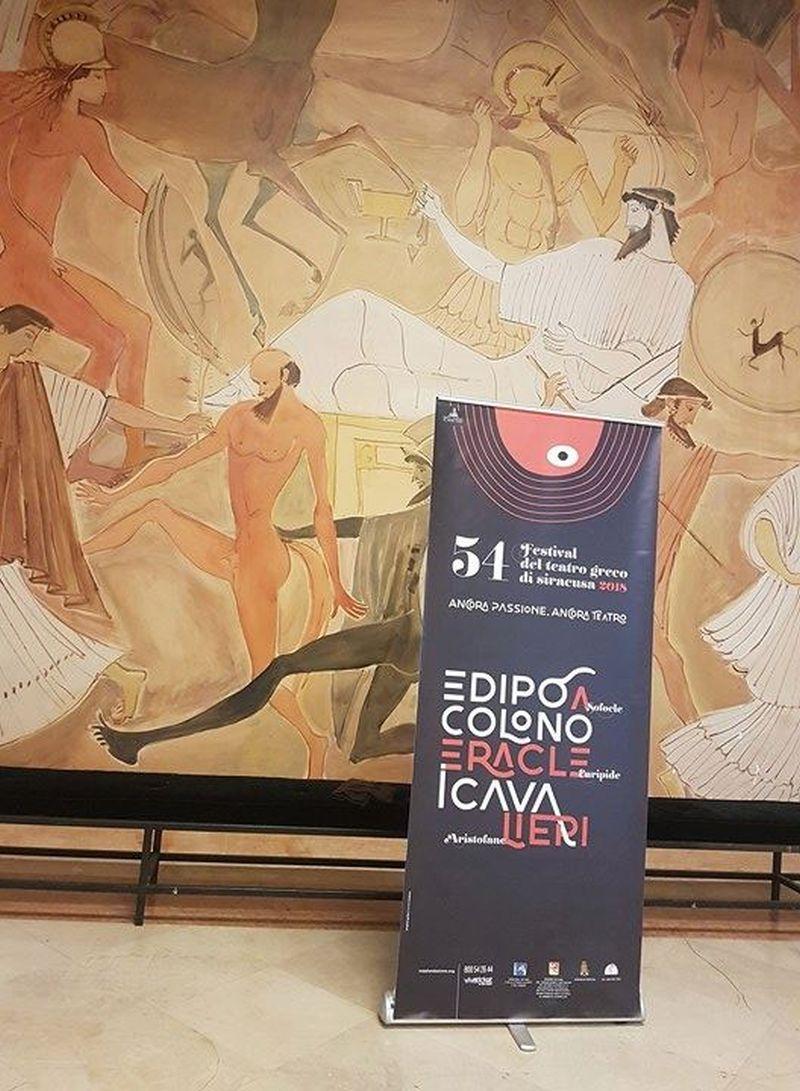 Un'opera di Lela Pupillo per il Manifesto del 54° Festival al Teatro Greco
