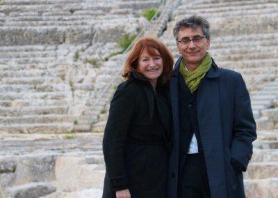La regista Muriel Mayette-Holtz e il Sovrintendente della Fondazione INDA Antonio Calbi in Teatro - ph. Franca Centaro
