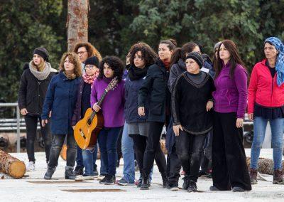 Le prove: il Coro delle Troiane - ph. Franca Centaro
