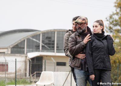 Le prove: il regista Davide Livermore, Viola Marietti (Teucro) e Maria Chiara Centorami (Primo Messaggero) - ph. Maria Pia Ballarino