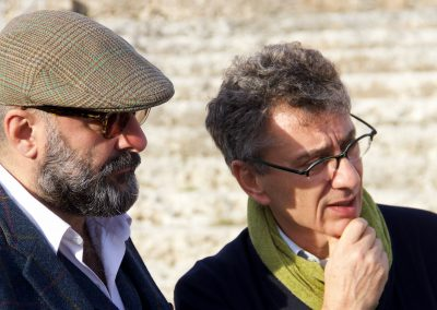 Il regista Davide Livermore e il Sovrintendente della Fondazione INDA Antonio Calbi - ph. Franca Centaro
