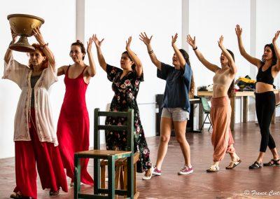 Le prove: Elisabetta Pozzi, Giovanna Di Rauso, Federica Carruba Toscano, Margherita Carducci, Elisabetta Neri e Viola Marietti - ph. Franca Centaro