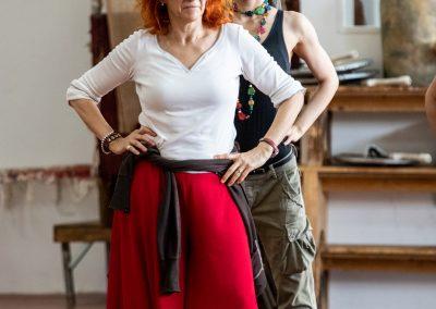Le prove: Elisabetta Pozzi e Giovanna Di Rauso - ph. Franca Centaro
