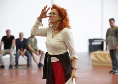 Le prove: Elisabetta Pozzi - ph. Maria Pia Ballarino
