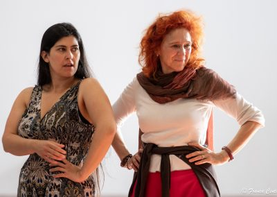 Le prove: Federica Carruba Toscano ed Elisabetta Pozzi - ph. Franca Centaro