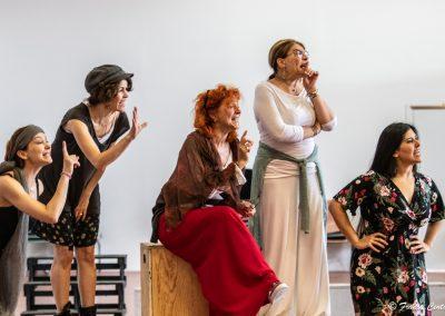 Le prove: Giovanna Di Rauso, Silvia Salvatori, Elisabetta Pozzi, Tiziana Schiavarelli e Federica Carruba Toscano - ph. Franca Centaro