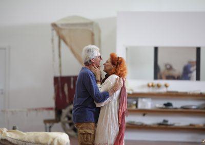 Le prove: Tullio Solenghi ed Elisabetta Pozzi - ph. Maria Pia Ballarino