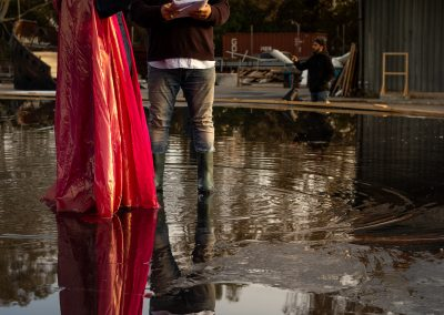 Le prove: Laura Marinoni (Elena) e il regista Davide Livermore - ph. Bianca Burgo