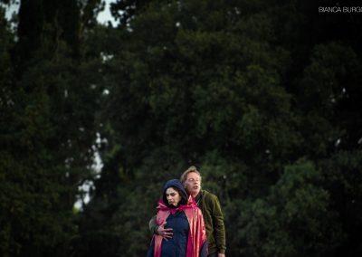 Le prove: Laura Marinoni (Elena) e Giancarlo Judica Cordiglia (Teoclimeno) - ph. Bianca Burgo