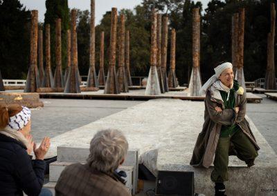 Le prove: Maddalena Crippa (Ecuba) - ph. Bianca Burgo