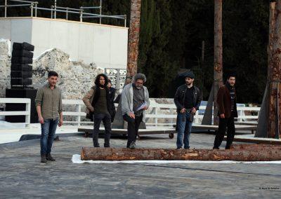 Le prove: Massimo Cimaglia (Poseidone) e Coro - ph. Maria Pia Ballarino