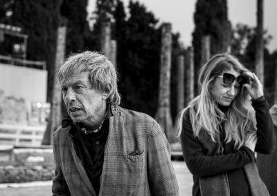 Le prove: Paolo Rossi (Taltibio) e Viola Graziosi (Elena) - ph. Bianca Burgo