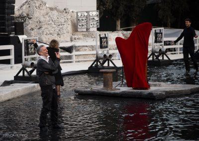 Le prove: Sax Nicosia (Menelao) e Django Guerzoni (Coro) - ph. Bianca Burgo