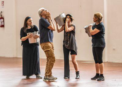 Le prove: Simonetta Cartia, Tullio Solenghi, Silvia Salvatori e Tiziana Schiavarelli - ph. Franca Centaro