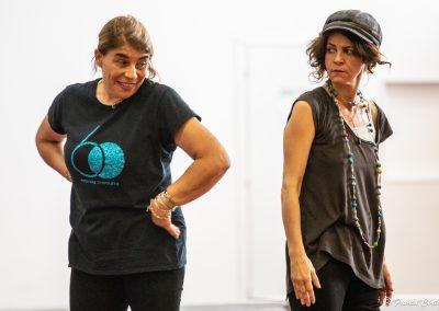 Le prove: Tiziana Schiavarelli e Silvia Salvatori - ph. Franca Centaro