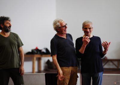 Le prove: Tullio Solenghi, Vittorio Viviani e Mimmo Mancini - ph. Maria Pia Ballarino
