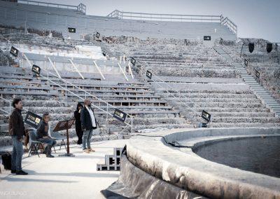 Il regista Davide Livermore in un momento delle prove a Teatro - ph. Bianca Burgo