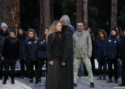 Le prove: Viola Graziosi (Elena), Graziano Piazza (Menelao) e Coro - ph. Maria Pia Ballarino