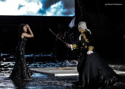 Viola Marietti (Teucro) e Giancarlo Judica Cordiglia (Teoclimeno) - ph. Maria Pia Ballarino