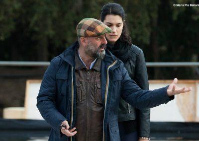 Le prove: il regista Davide Livermore e Federica Quartana (Corifea) - ph. Maria Pia Ballarino
