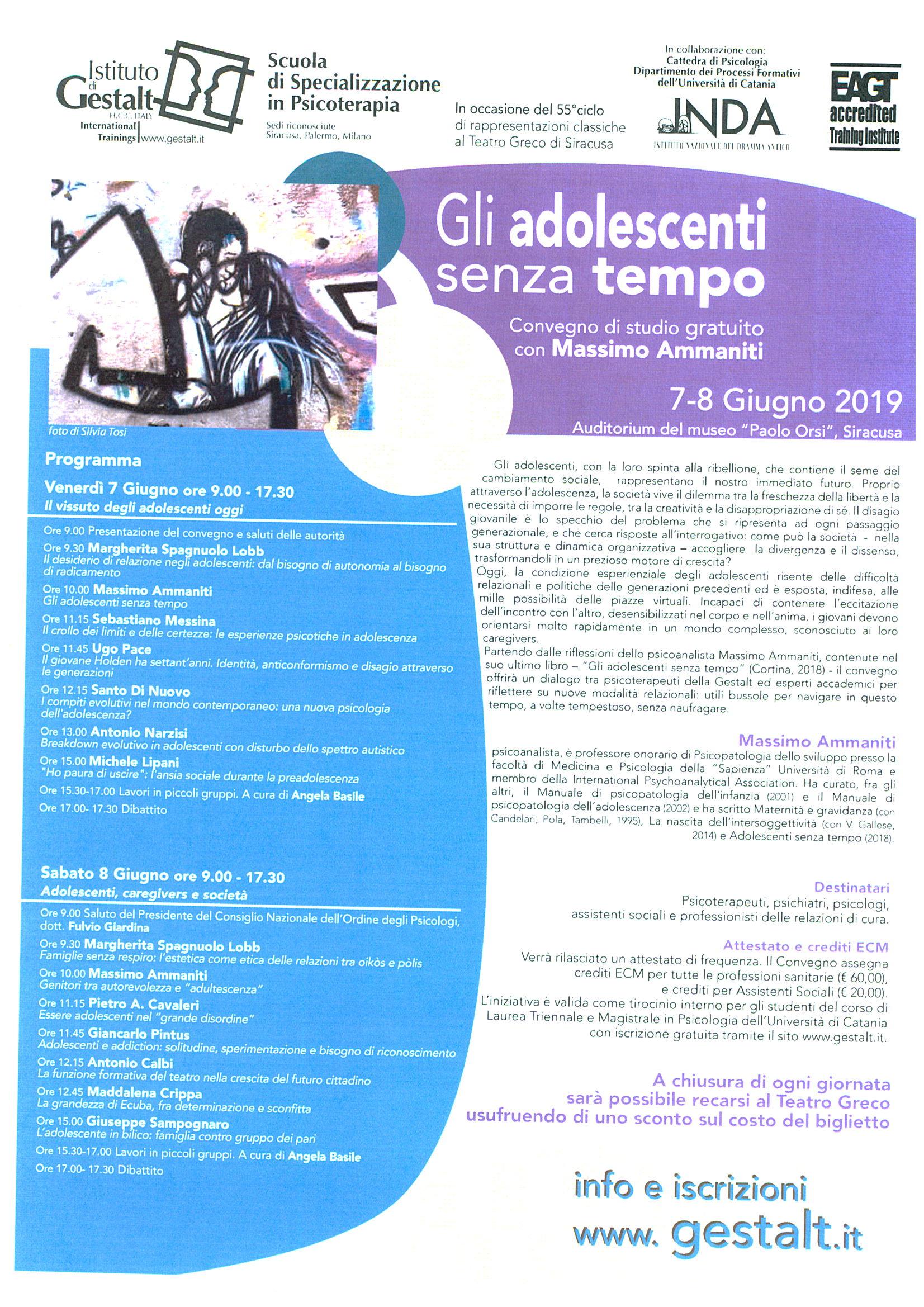 """""""Gli adolescenti senza tempo"""": convegno di studi gratuito con Massimo Ammaniti"""