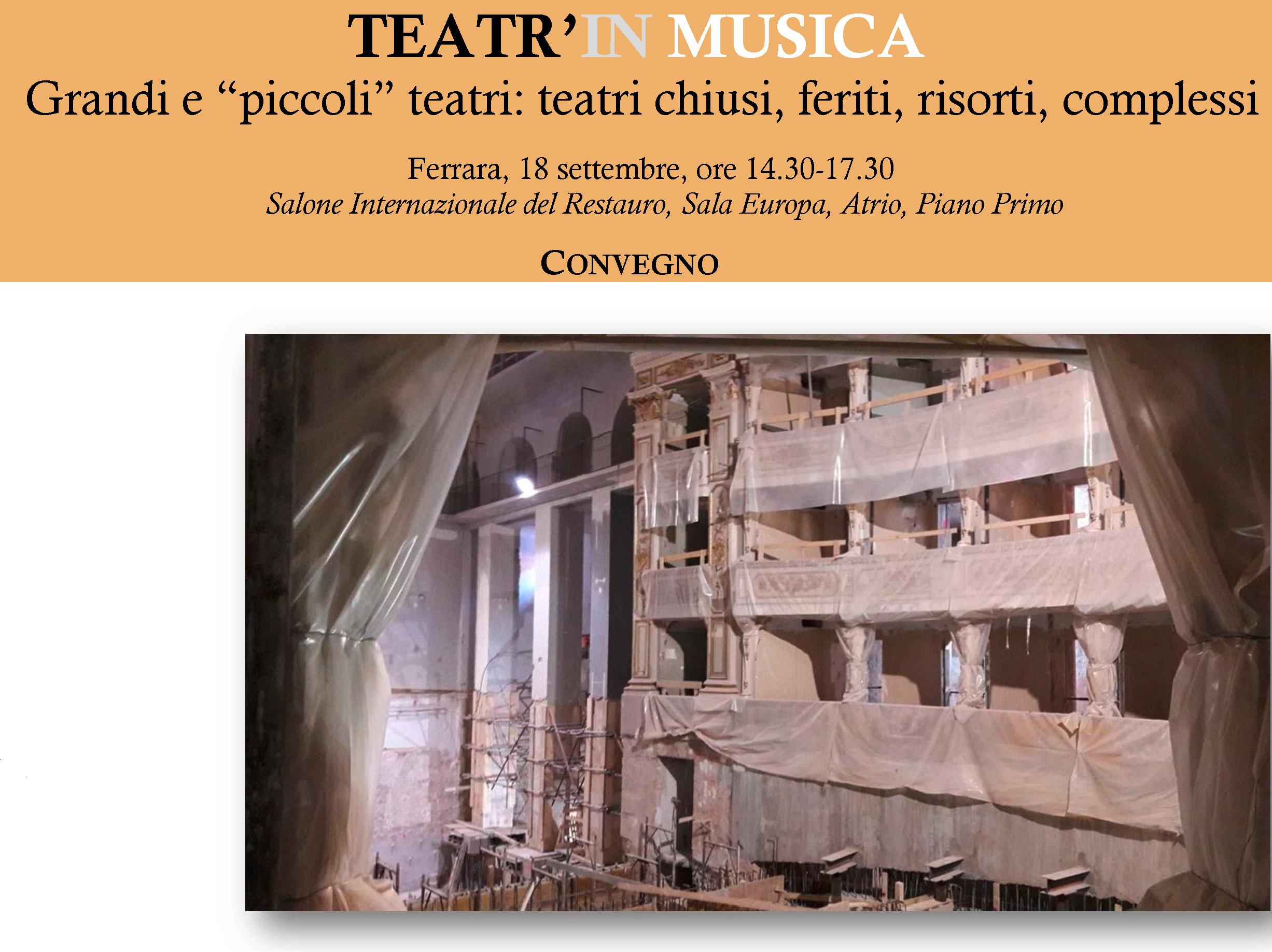 """Il Sovrintendente Calbi al Convegno di Ferrara """"Teatr'in Musica"""""""