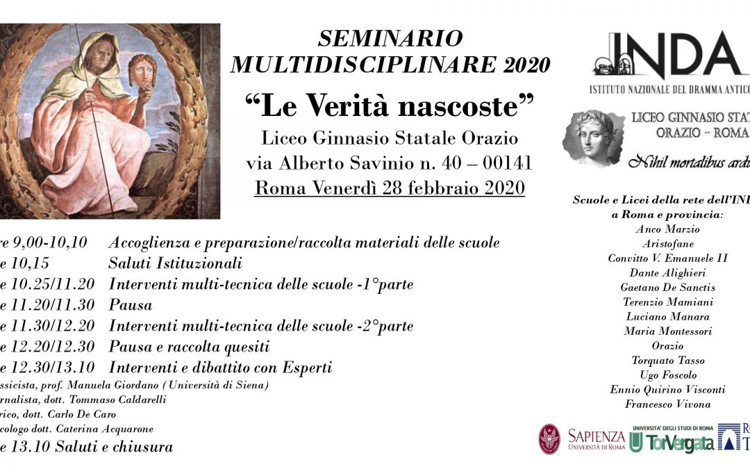 """Roma, annullato il seminario multidisciplinare """"Le Verità nascoste"""""""