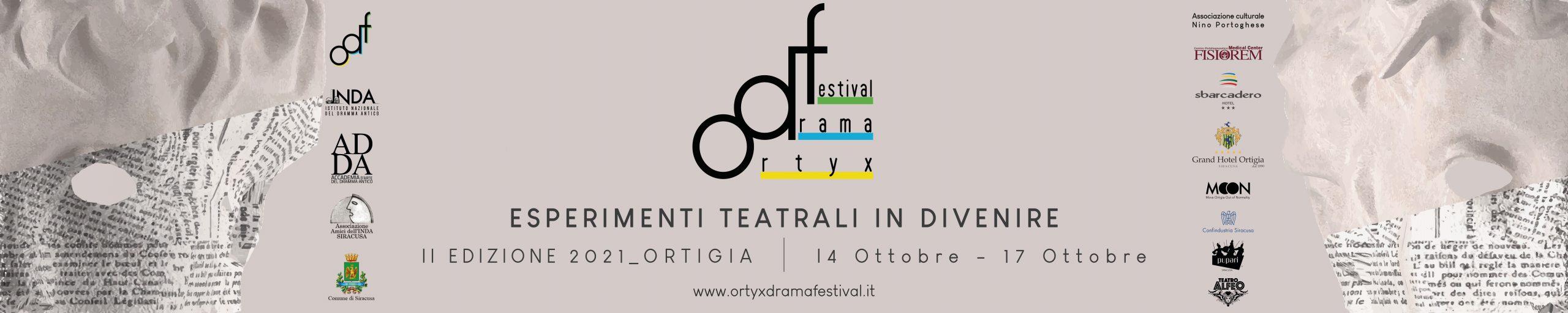 Ortyx Drama Festival dal 14 al 17 ottobre nel centro storico di Ortigia